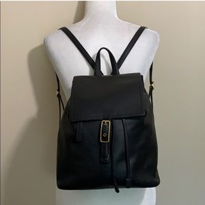Coach Large Vintage Legacy Black Leather Backpack